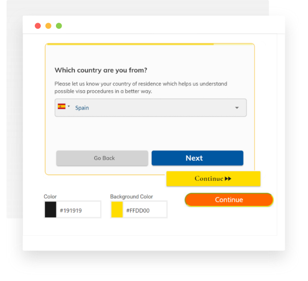 Customise LeadGen form design