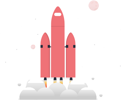 social proof app for lead generation - illustration of launching rocket