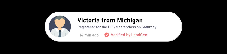 LeadGen Social Proof app popup