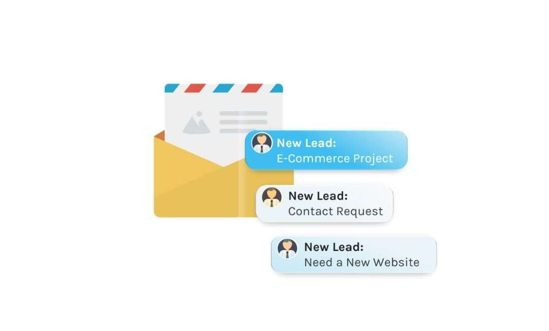 How can I set-up email notifications with information about leads from my forms?
