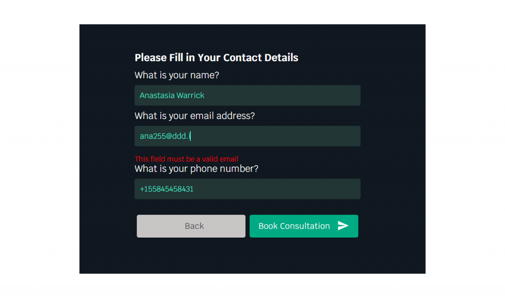 Email validation in LeadGen forms
