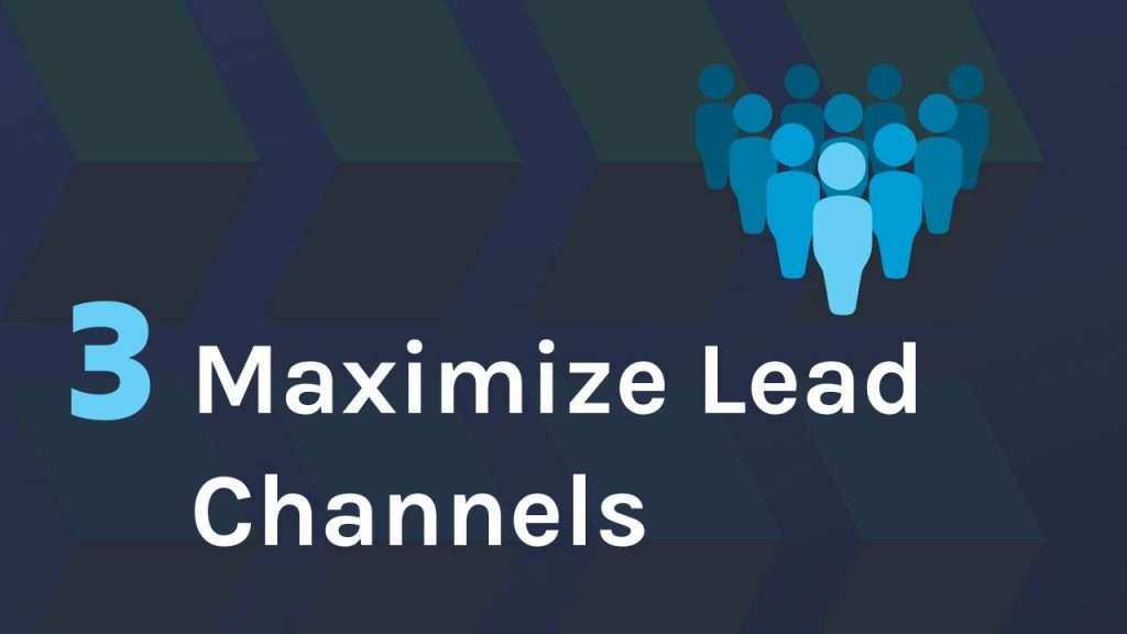 Maximise different channels in a multi-channel approach to web development lead generation