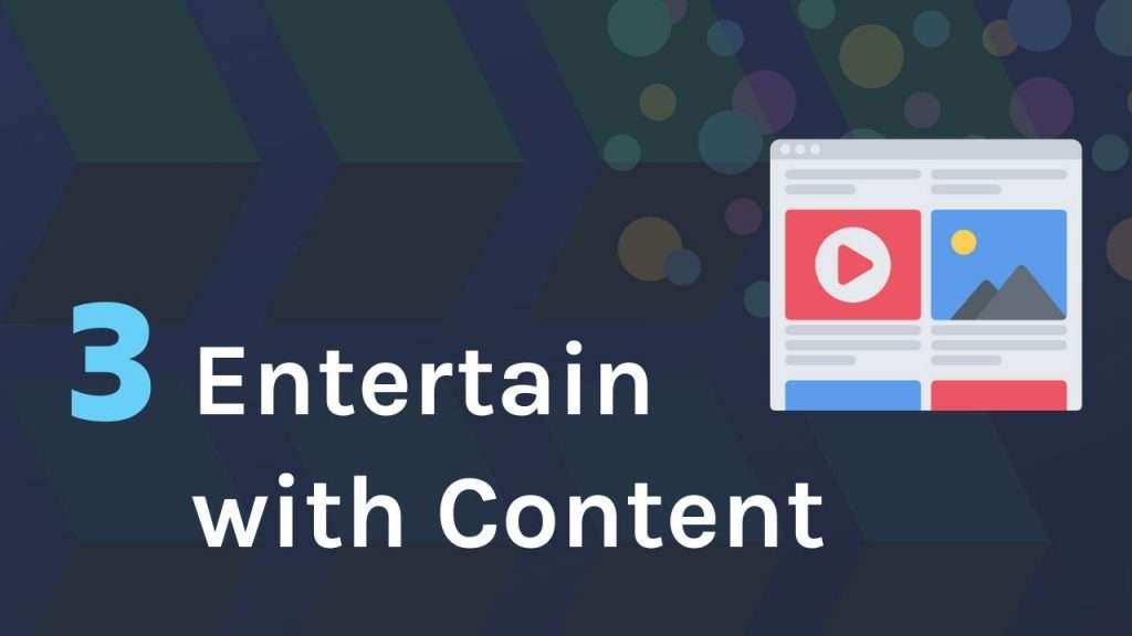 Entertain users with interesting content in online forms