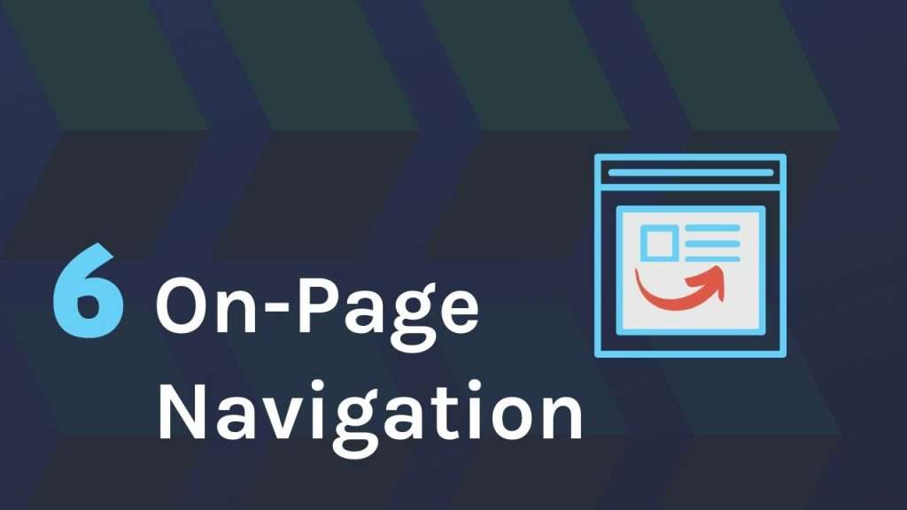 On-Page navigation on website