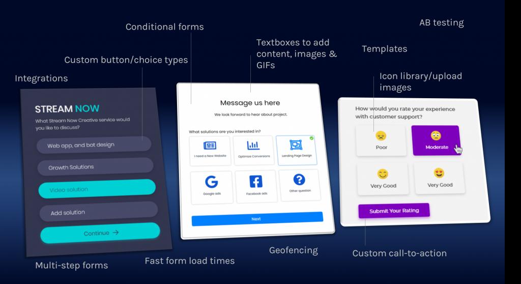LeadGen App lead generation form builder feature s