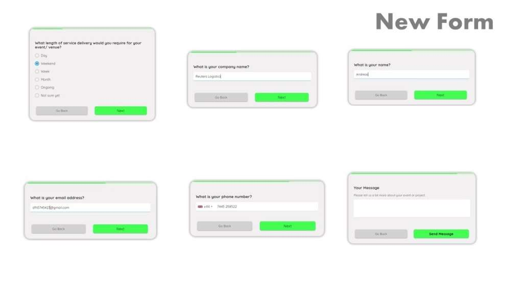Online form examples - new multi-step form design