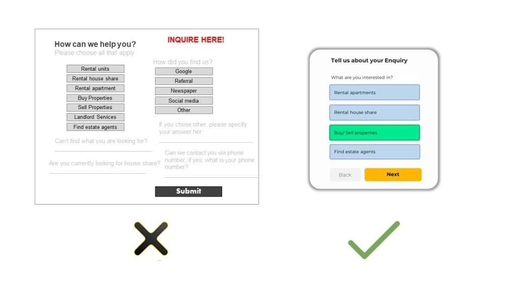 simplifying online form designs