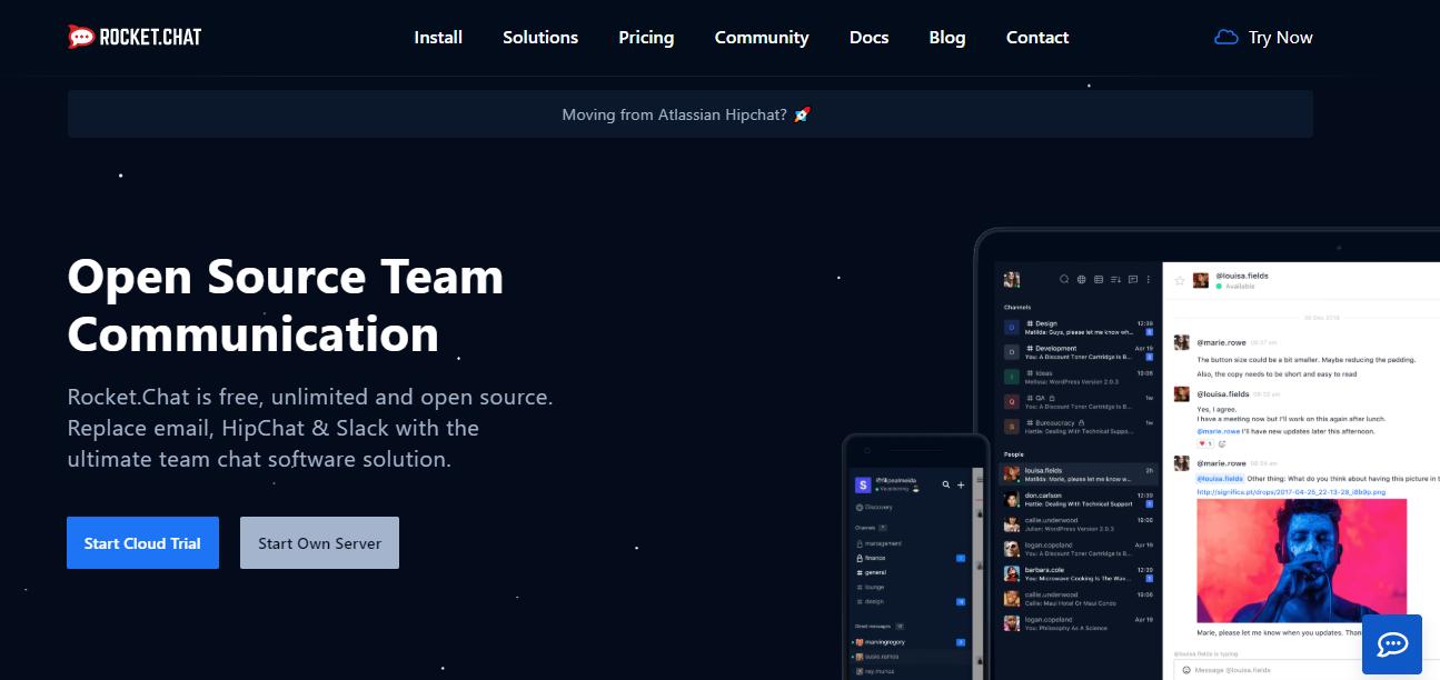 Rocket Chat - alternative for slack