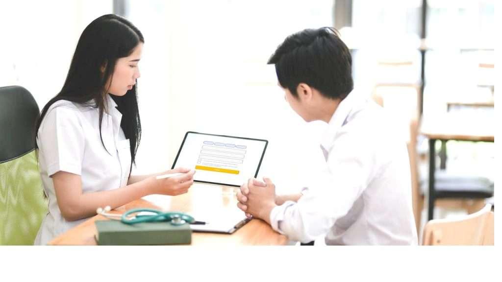 Online Medical Form Assessment On Tablet