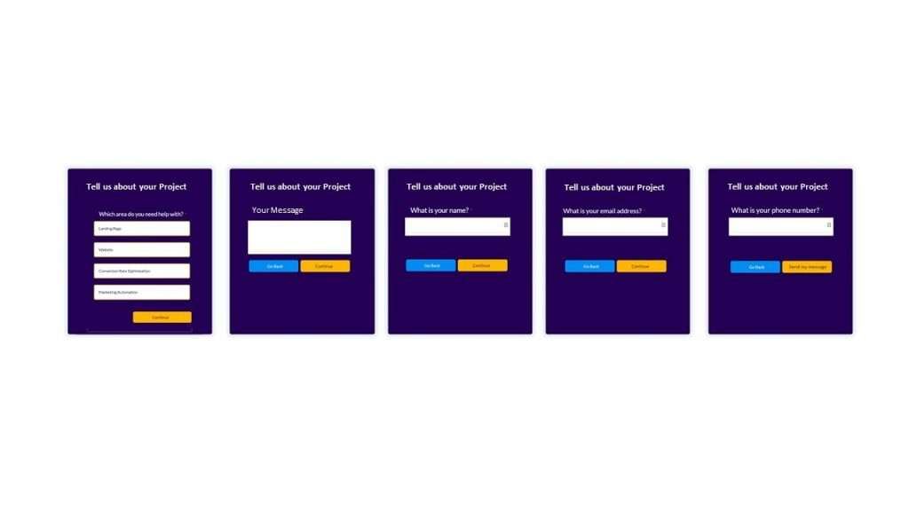 Form Variations for A/B Test
