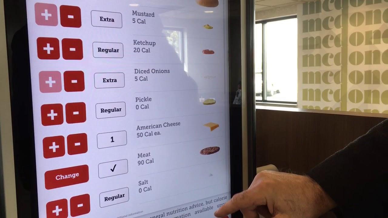 McDonald's owner demonstrates new touch-screen kiosks
