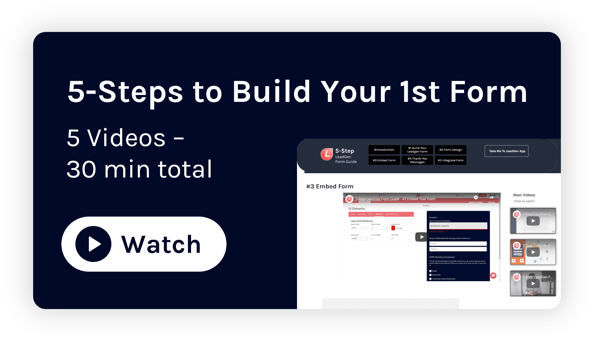 5 steps to build your first LeadGen form
