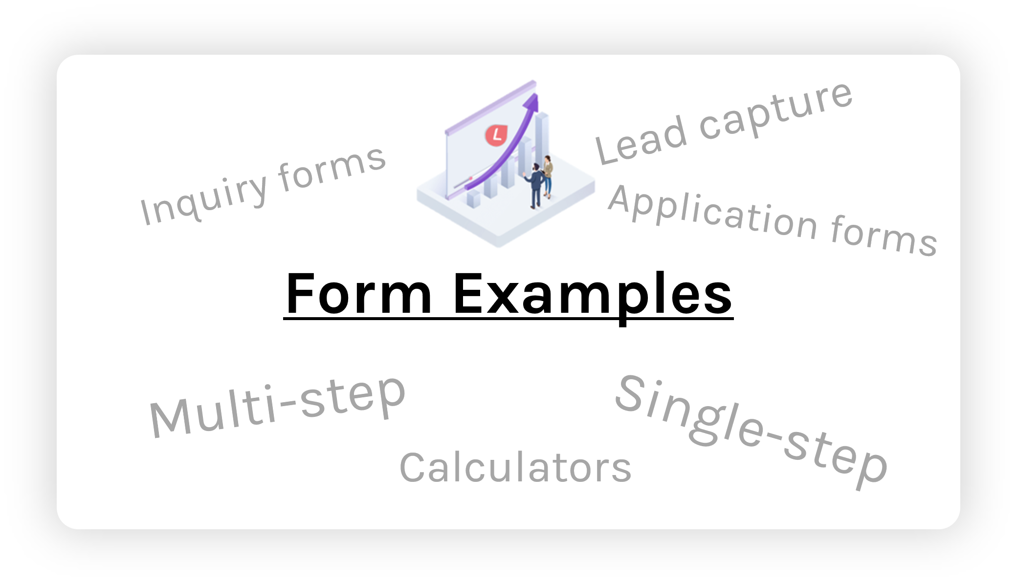 Form examples for data capture and lead collection