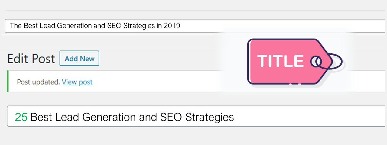 Change in SEO page title