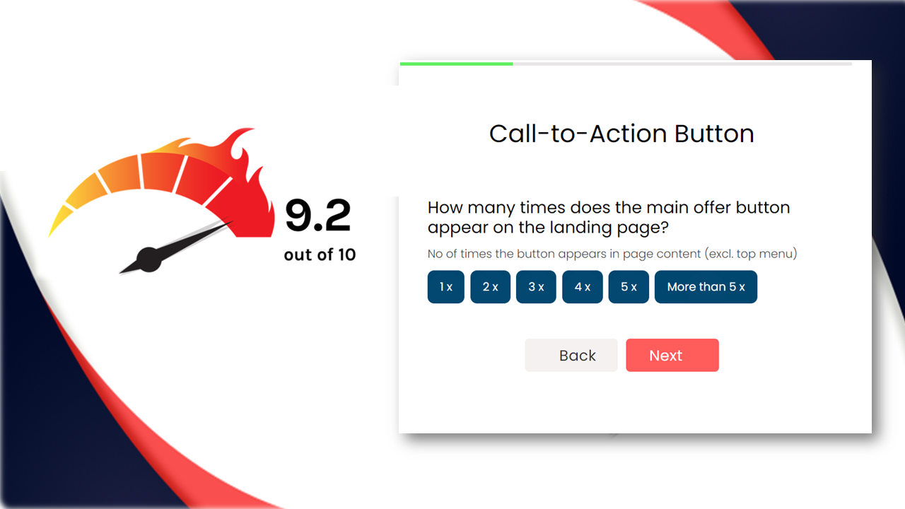 Website Review Tool, checking Conversion Rates