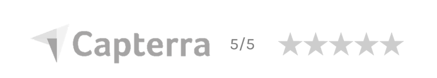 Capterra logo with rating