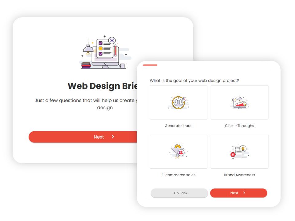 Multi-step form design