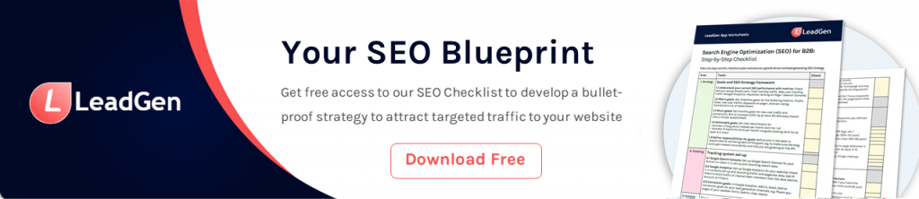 Get more organic traffic results with by downloading our SEO checklist