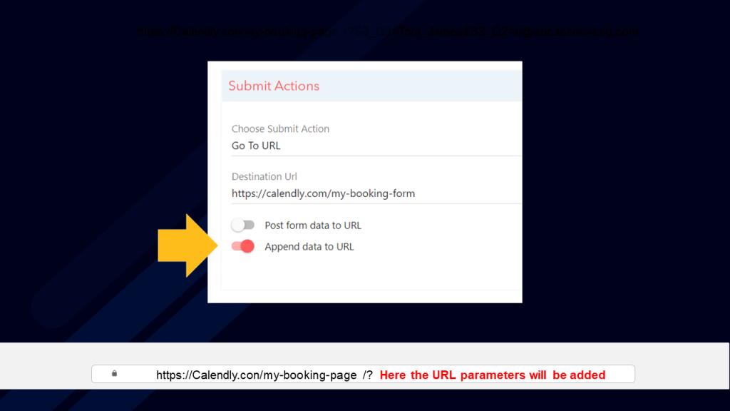 How to append form data to URL in LeadGen App