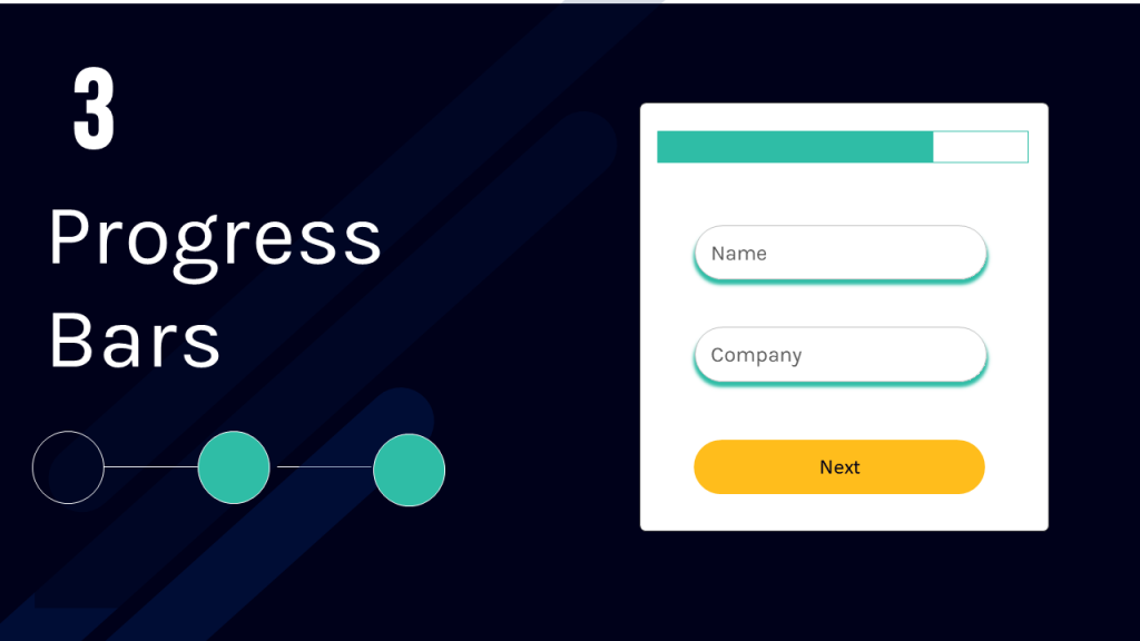 Progress bars in multi-step landing page forms
