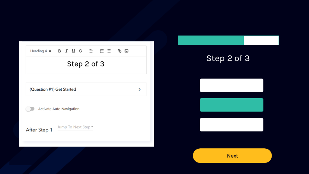 Customizing landing page forms with textboxes - Showing the number of form steps to user
