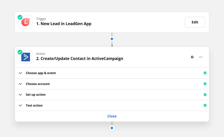 LeadGen Zapier app