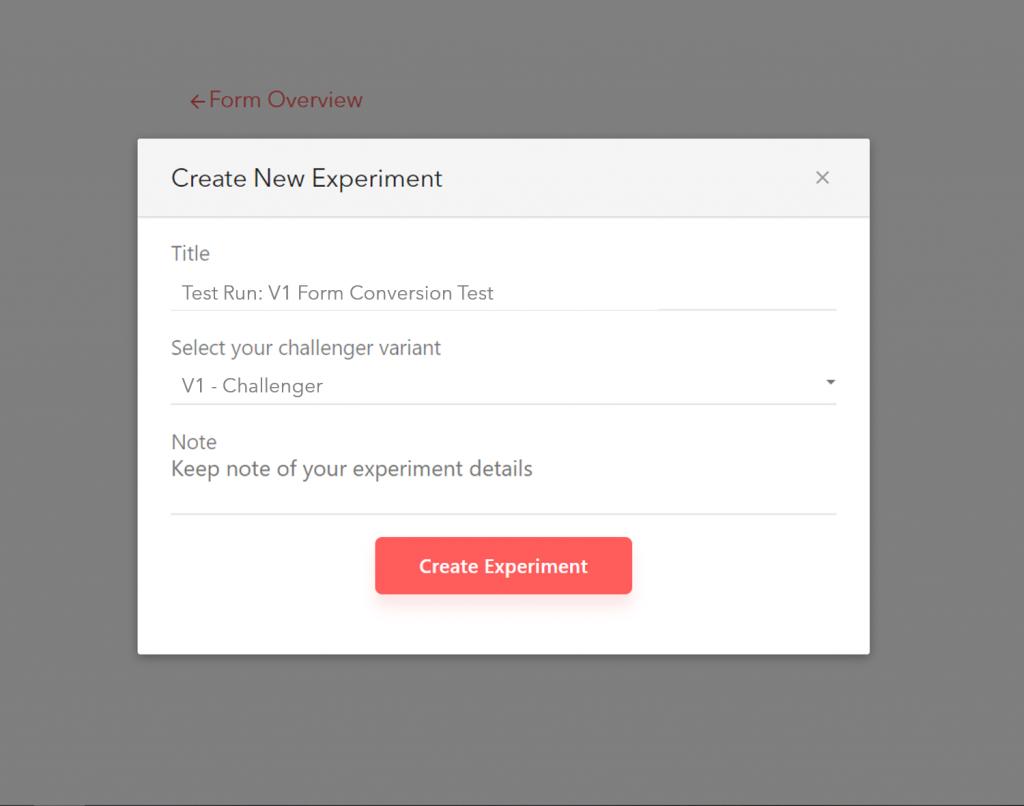 A/B testing in LeadGen App: Step 3, Start experiment