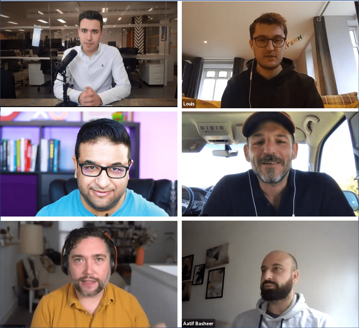 Podcast guests and hosts