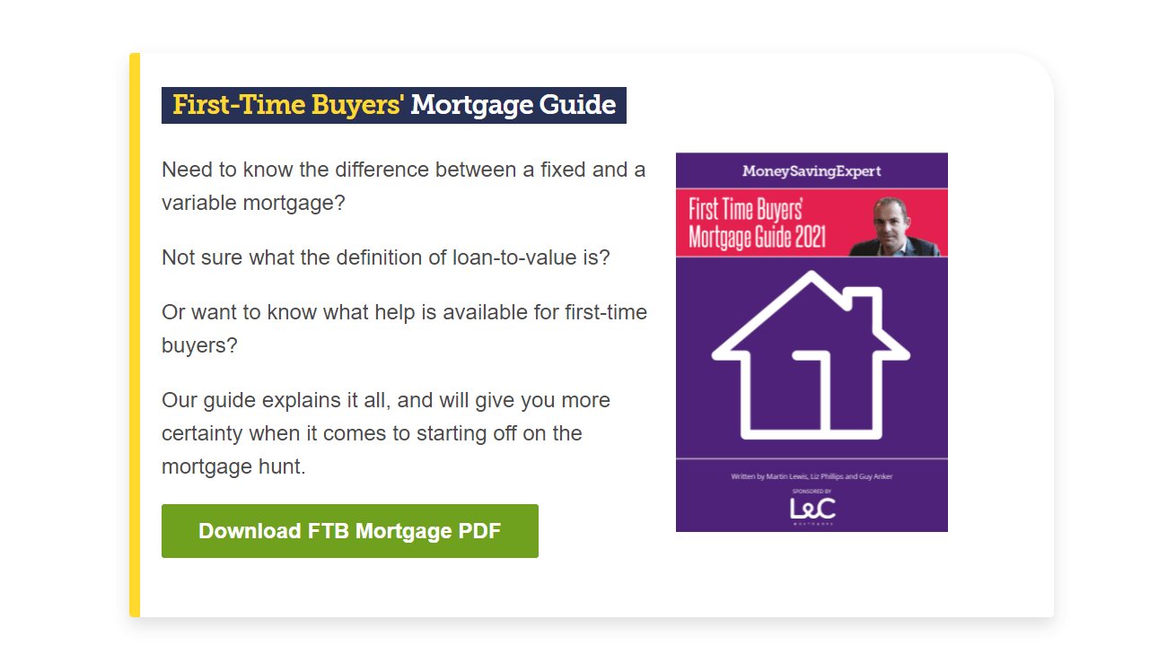 First time buyer mortgage guide by MoneySaving Expert