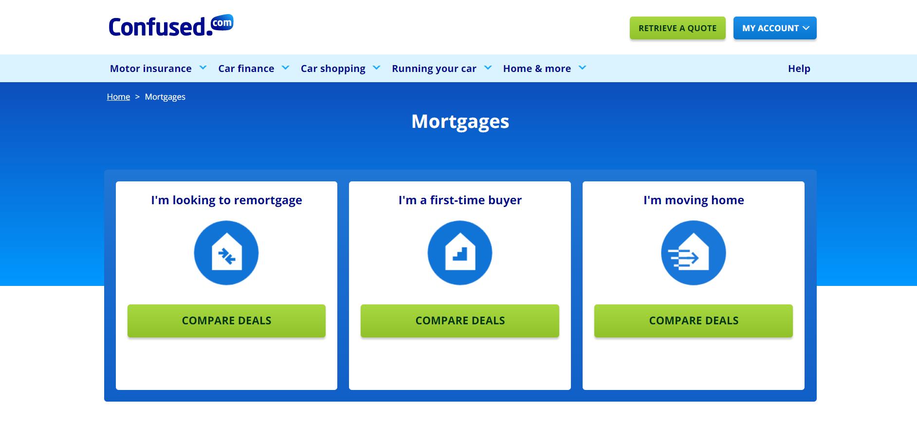 Confused.com mortgage lead generation