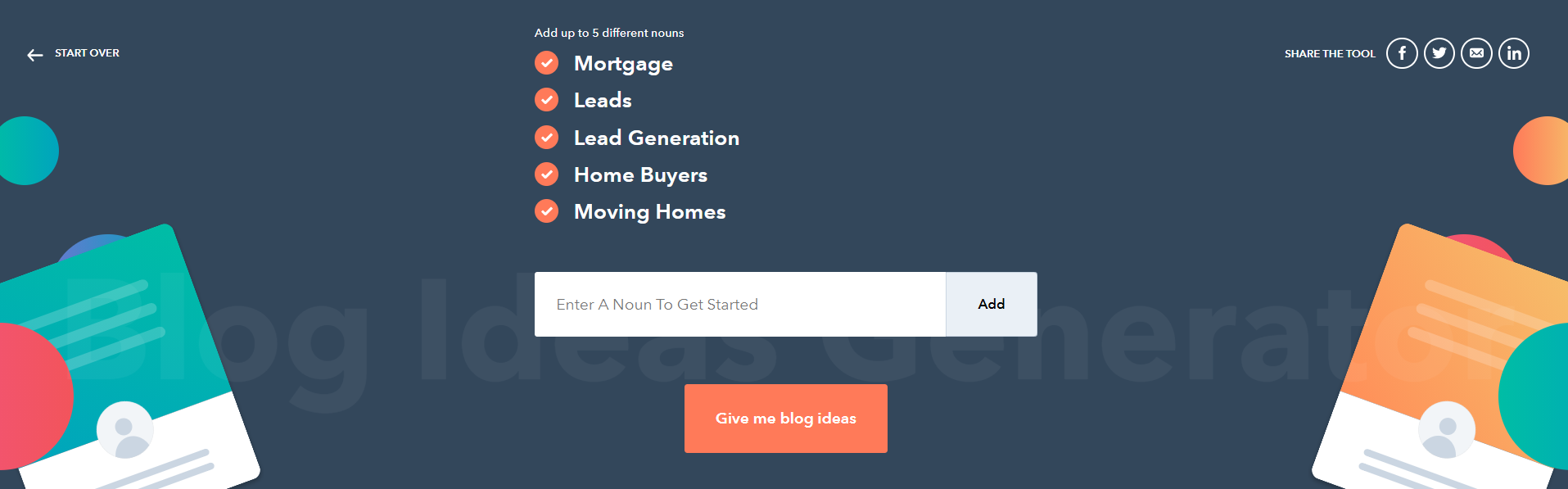 HubSpot content generator for mortgage lead generation