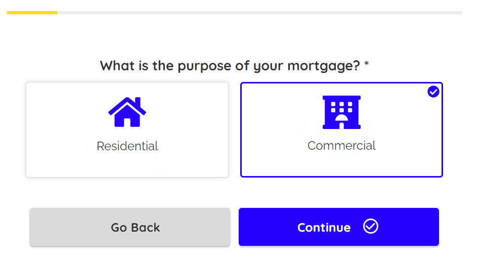 mortgage web form