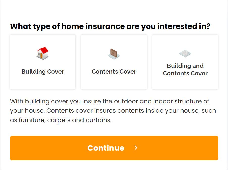 home-insurance-web-form