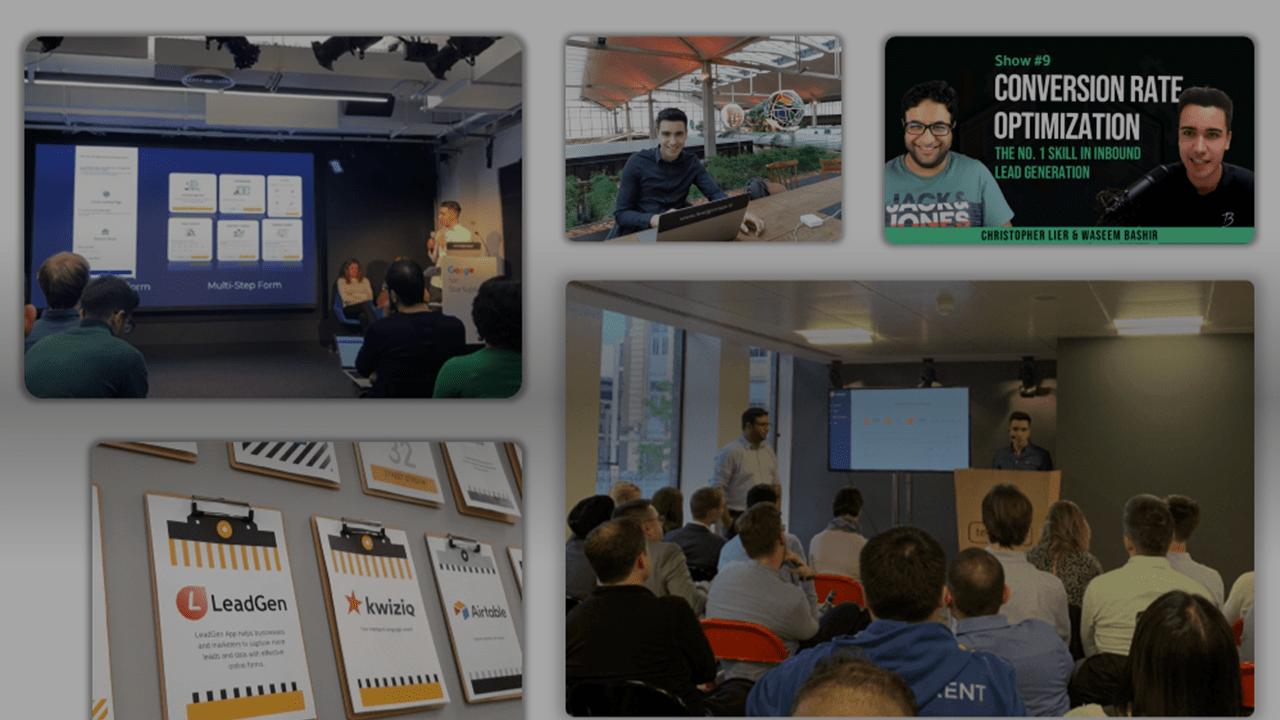 Lead capture tool - LeadGen App presented at Techhub London